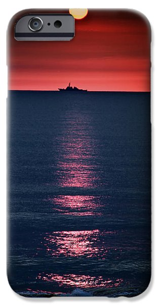 Atlantic iPhone Cases - And All the Ships at Sea iPhone Case by Tom Mc Nemar