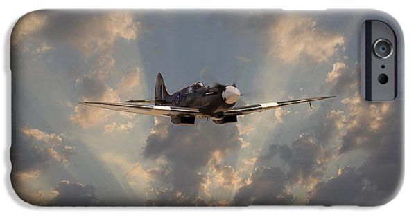 Classic Aircraft iPhone Cases - And Comes Safe Home iPhone Case by Pat Speirs