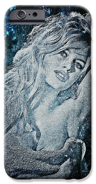 Recently Sold -  - Gray Hair iPhone Cases - And God Created Woman iPhone Case by Absinthe Art By Michelle LeAnn Scott