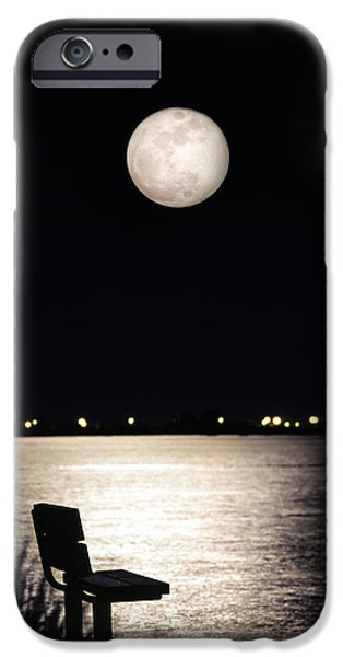 Gary Heller iPhone Cases - And No One Was There - To See The Full Moon Over The Bay iPhone Case by Gary Heller