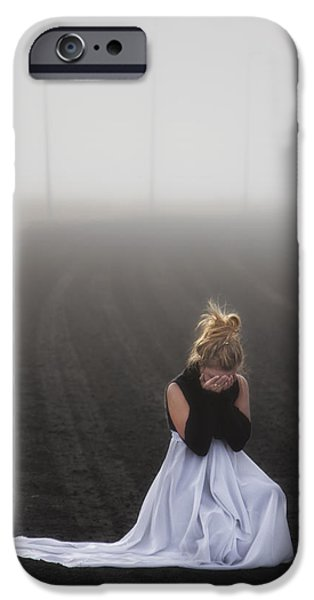 And Tears Shall Drown The Wind iPhone Case by Evelina Kremsdorf