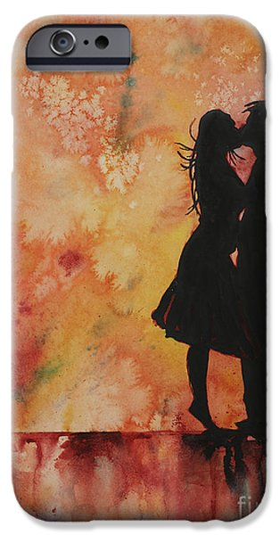Unity Paintings iPhone Cases - ...and the Ground Stood Still iPhone Case by Ryan Fox