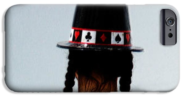 Mad Hatter iPhone Cases - And the rabbit said...keep it all in the hat. iPhone Case by Steven  Digman