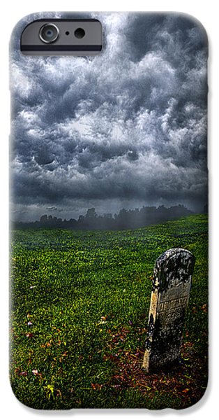Grave iPhone Cases - And Then There Was Gloom iPhone Case by Phil Koch