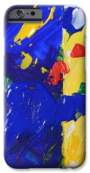 Abstract Expressionist iPhone Cases - And There Was Light - Genesis 1 3 - Abstract Expressionist Painting iPhone Case by Philip Jones