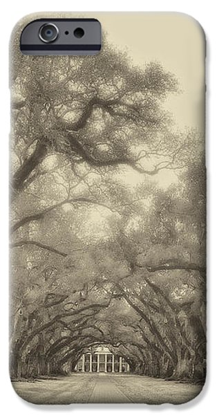And Time Stood Still sepia iPhone Case by Steve Harrington