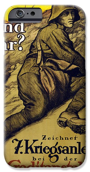 Wwi Drawings iPhone Cases - And You? iPhone Case by Alfred Roller