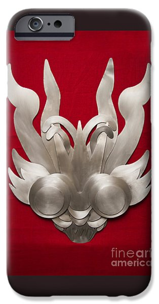 Culture Reliefs iPhone Cases - Andean Devil Mask iPhone Case by Dario Pinto