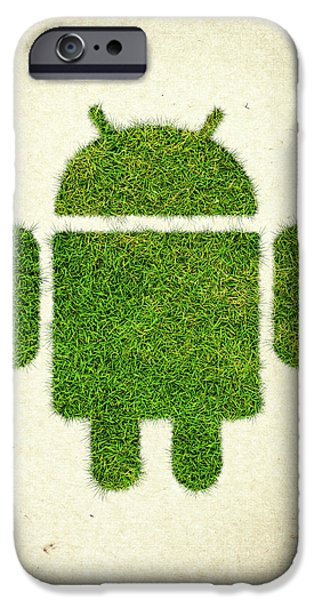 Waste iPhone Cases - Andoird Grass Logo iPhone Case by Aged Pixel