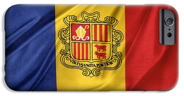 Patriotism iPhone Cases - Andorra flag iPhone Case by Les Cunliffe