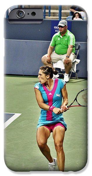 Wta iPhone Cases - Andrea Petkovic iPhone Case by Rexford L Powell