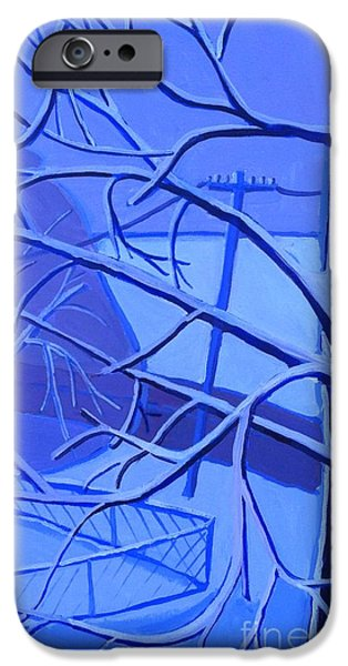 Boston Ma Paintings iPhone Cases - Andreas Snow Day iPhone Case by Debra Bretton Robinson