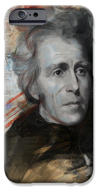 President iPhone Cases - Andrew Jackson iPhone Case by Corporate Art Task Force