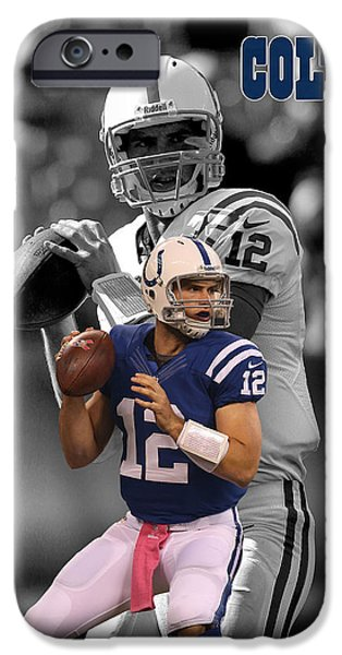 Indianapolis iPhone Cases - Andrew Luck Colts iPhone Case by Joe Hamilton