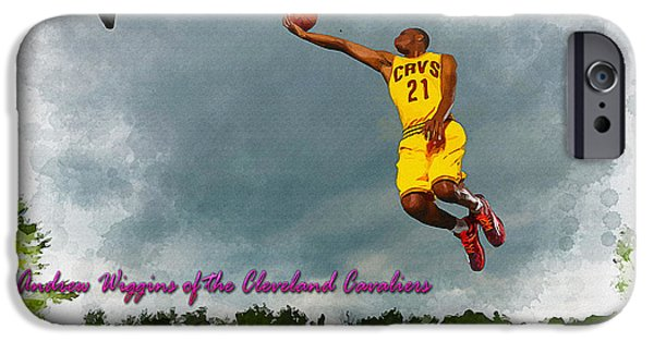 Allstar iPhone Cases - Andrew Wiggins of the Cleveland Cavaliers iPhone Case by Don Kuing