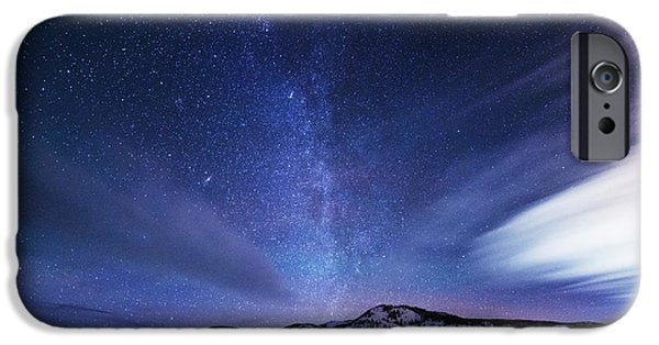 Cold Weather iPhone Cases - Andromeda Rising iPhone Case by Darren  White