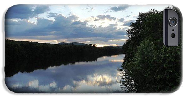 Androscoggin iPhone Cases - Androscoggin River Reflections iPhone Case by Mike Breau