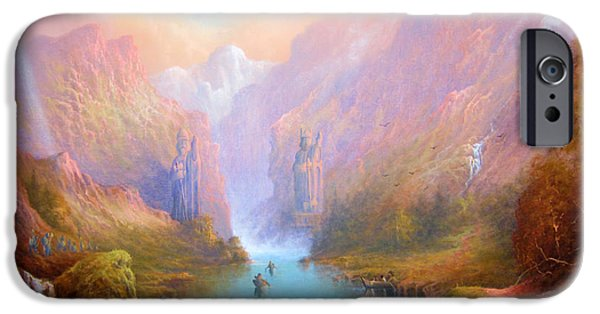 Film Paintings iPhone Cases - Anduin The Great River iPhone Case by Joe  Gilronan