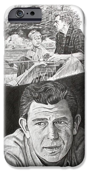 Andy Griffith Show iPhone Cases - Andy Griffith iPhone Case by Randy Mitchell