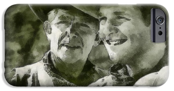 Andy Griffith iPhone Cases - Andy Griffiths Western Days iPhone Case by Paulette B Wright