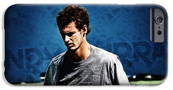 French Open Digital iPhone Cases - Andy Murray iPhone Case by Nishanth Gopinathan