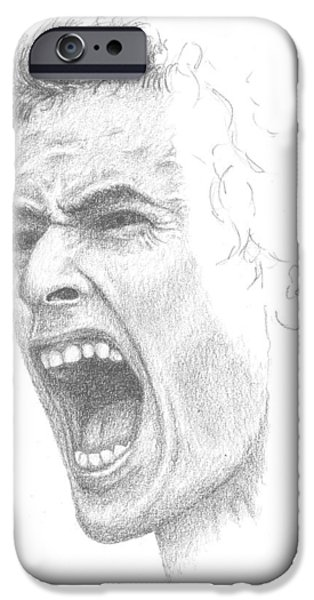 Andy Murray Sketch iPhone Case by Conor OBrien