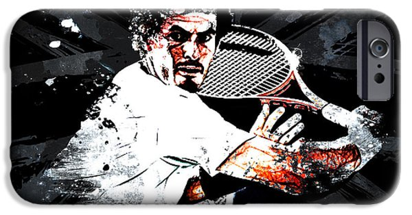 Federer iPhone Cases - Andy Murray iPhone Case by The DigArtisT