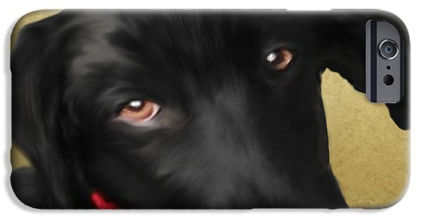 Black Dog iPhone Cases - Andy iPhone Case by Sannel Larson