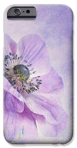 Filigree iPhone Cases - Anemone iPhone Case by Priska Wettstein