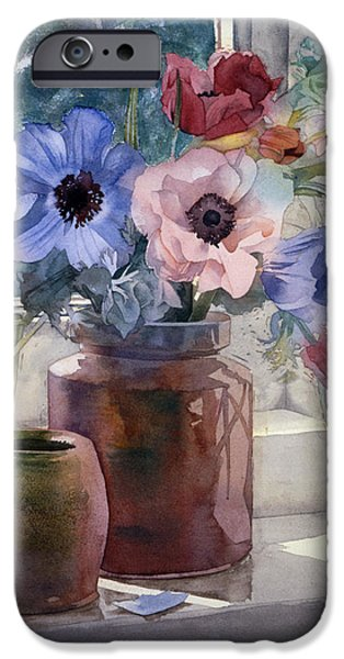 Anemones iPhone Case by Julia Rowntree
