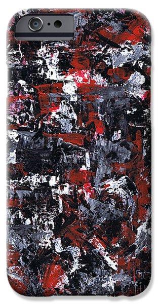Brain Paintings iPhone Cases - Aneurysm 1 - Left iPhone Case by Kamil Swiatek