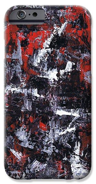 Brain Paintings iPhone Cases - Aneurysm 1 - Middle iPhone Case by Kamil Swiatek