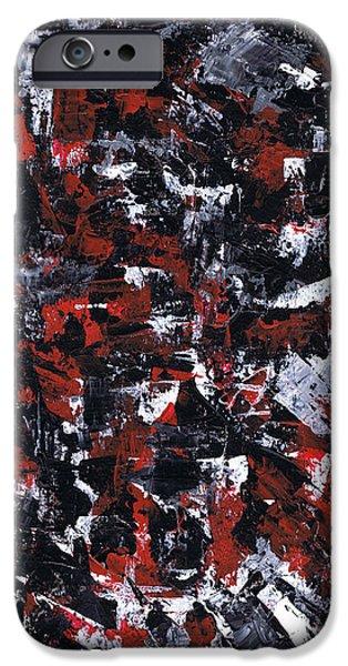 Brain Paintings iPhone Cases - Aneurysm 1 - Right iPhone Case by Kamil Swiatek