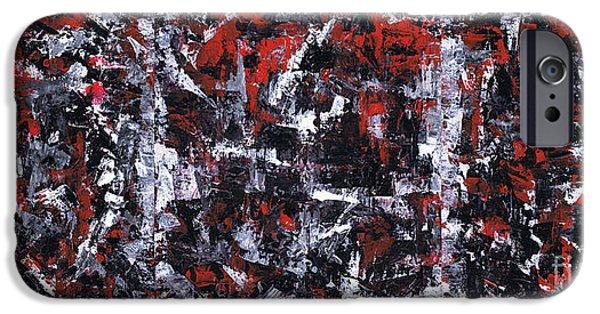 Brain Paintings iPhone Cases - Aneurysm 1 - Triptych iPhone Case by Kamil Swiatek
