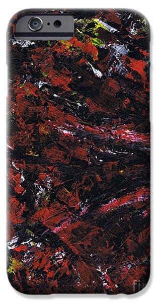 Brain Paintings iPhone Cases - Aneurysm 2 - Left iPhone Case by Kamil Swiatek