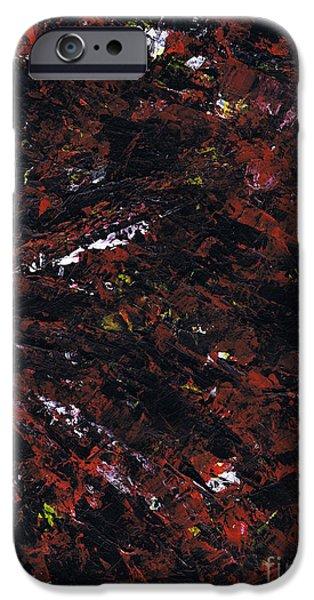 Brain Paintings iPhone Cases - Aneurysm 2 - Right iPhone Case by Kamil Swiatek