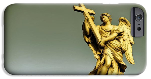 Miracle iPhone Cases - Angel and Roman Baroque iPhone Case by Stefano Senise