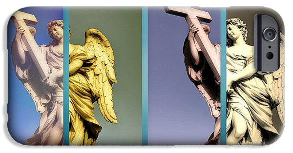 Seraphim Angel Digital Art iPhone Cases - Angel and Supernatural iPhone Case by Stefano Senise
