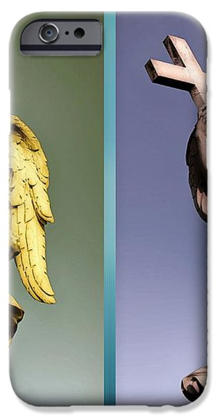 Angel and Supernatural iPhone Case by Stefano Senise