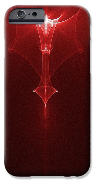Abstract Digital Digital iPhone Cases - Angel iPhone Case by Ches Black