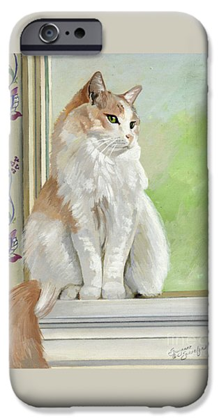 Orange Tabby iPhone Cases - Angel Daydreams iPhone Case by Suzanne Schaefer
