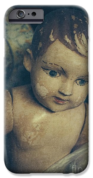 Missing Child iPhone Cases - Angel eyes iPhone Case by Danilo Piccioni