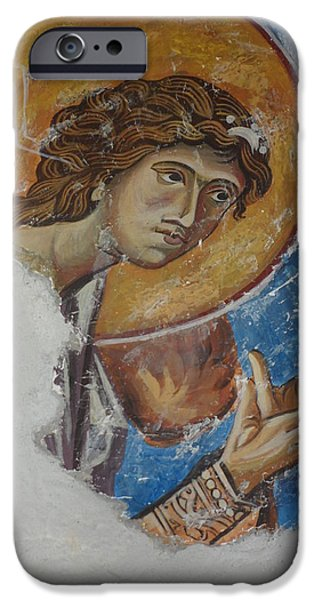 Angel Reliefs iPhone Cases - Angel from Kurbinovo iPhone Case by Antoni Golabovski