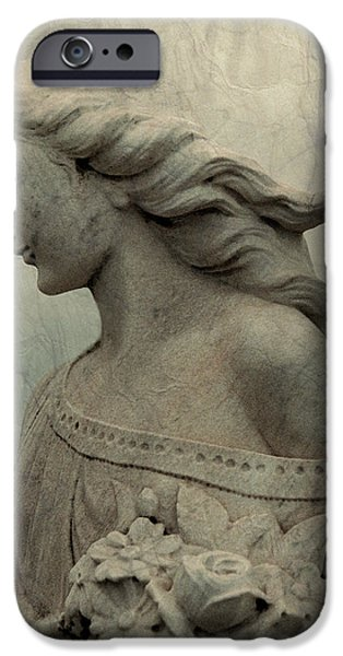Gray Hair Digital Art iPhone Cases - Angel Hair iPhone Case by Gothicolors Donna Snyder