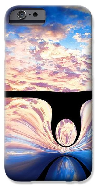 Angel In The Sky iPhone Case by Alec Drake