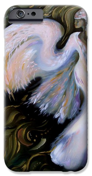 Power Jewelry iPhone Cases - Angel iPhone Case by Krystyna Sikora