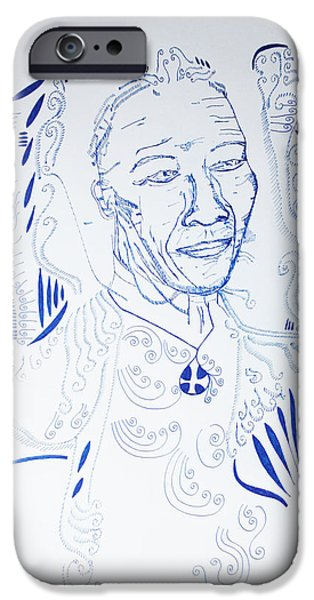 Jesus Drawings iPhone Cases - Angel Madiba -  Nelson Mandela iPhone Case by Gloria Ssali