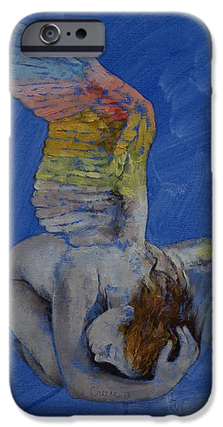 Figures iPhone Cases - Angel iPhone Case by Michael Creese