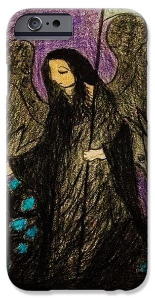 Night Angel iPhone Cases - Angel of Death iPhone Case by Andrew Moreno