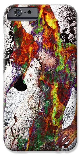 Angel of Debris iPhone Case by Michael  Volpicelli